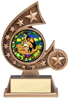 "5-3/4"" Holographic Diamond Comet Series Wrestling Trophy"