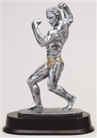 "Large 9-1/2"" Male Body Builder Trophy"