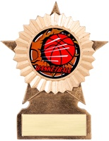 "5"" Small Star Blast Series Insert Basketball Trophy"