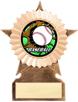 "5-1/2"" Medium Star Blast Series Insert Baseball Trophy"