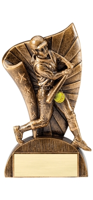 "6-1/2"" Flag Series Resin Softball Trophy"
