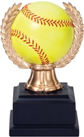 "6"" Wreath Softball Trophy"