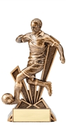"6-1/2"" Check Mate Resin Male Soccer Trophy"