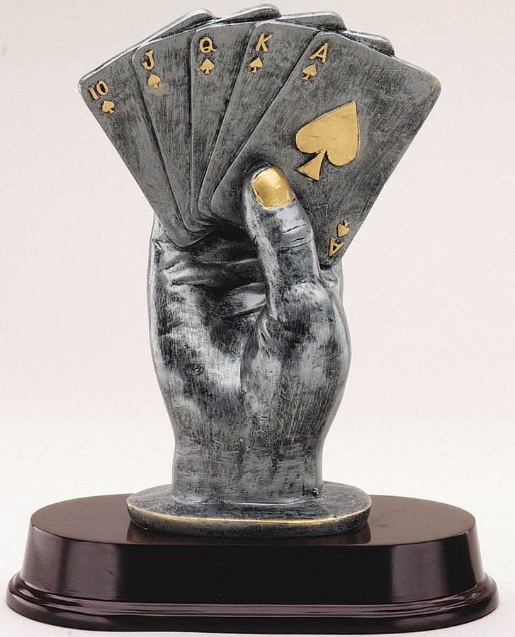 "9"" Texas Holdem Poker Trophy"