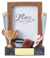 "7-1/4"" Basketball Photo Frame"