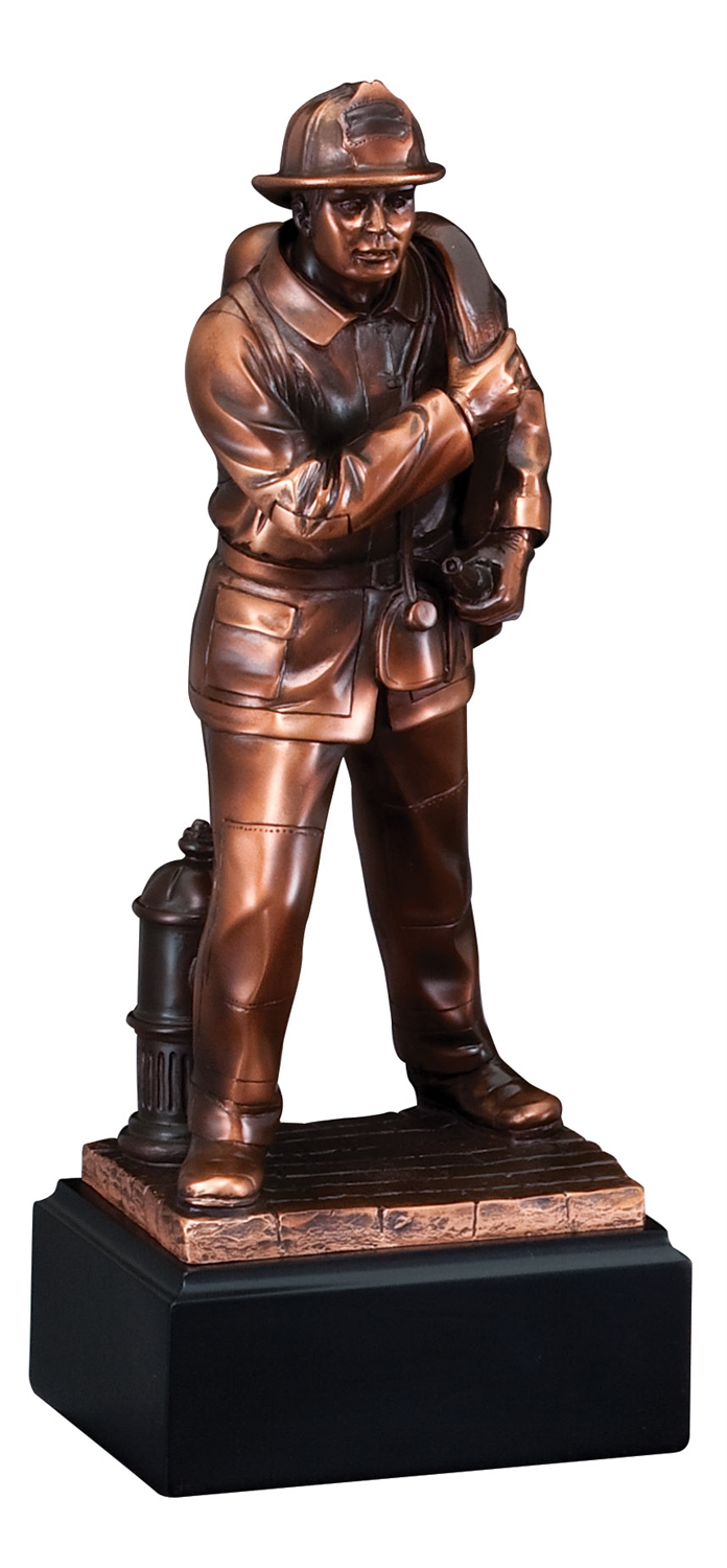 "12"" Fireman Trophy Sculpture"