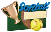 "5-1/4"" x 3-1/2"" Winners Cup Softball Resin RFC02"
