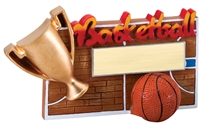 "5-1/4"" x 3-1/2"" Winners Cup Basketball Resin RFC03"