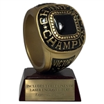 Champion Ring Resin Trophy