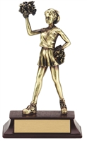 "Sunburst Resin Series 6-1/2"" Cheerleader Trophy"
