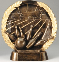"7-1/2"" High Relief Bowling Plate Award"