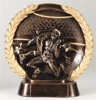 "7-1/2"" High Relief Wrestling Plate Award"