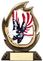 "7-1/4"" Flame Series Eagle Trophy"