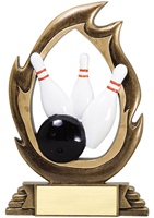 "7-1/4"" Flame Series Bowling Trophy"