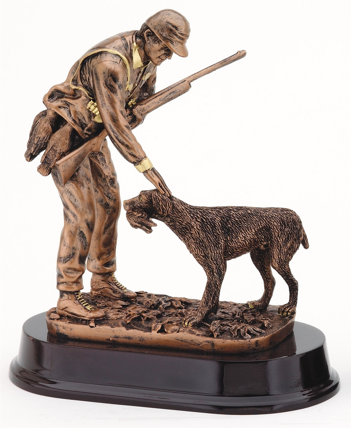 "9-3/4"" Hunter with Dog Trophy"