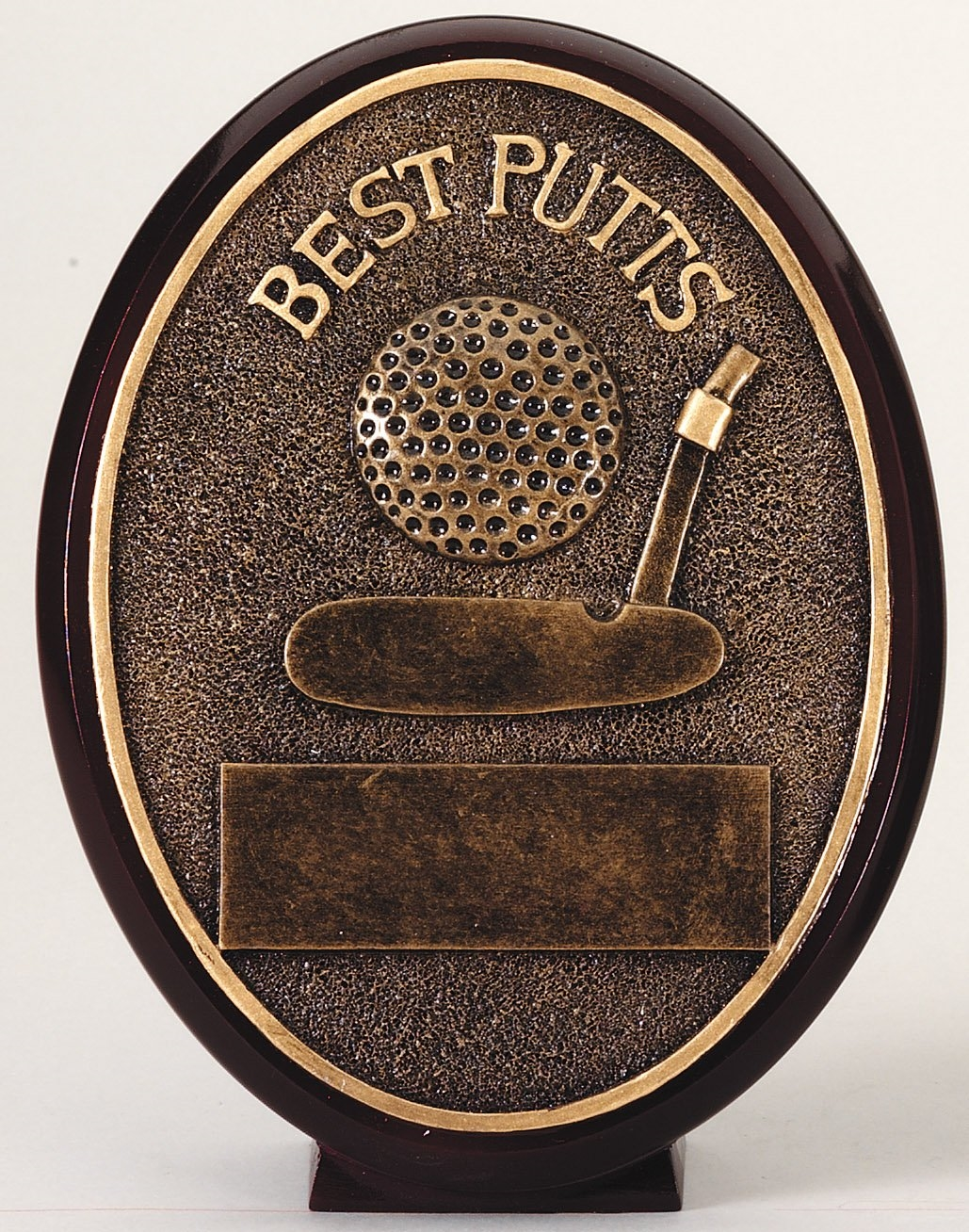 Best Putts Golf Resin Trophy Plaque