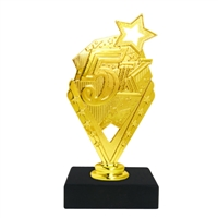 5K Trophy on Marble Base