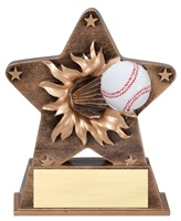 "5-1/2"" Starburst Series Baseball Trophy"