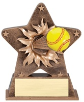 "5-1/2"" Starburst Series Softball Trophy"