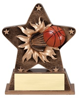 "5-1/2"" Starburst Series Basketball Trophy"