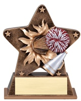 "5-1/2"" Starburst Series Cheer Trophy"