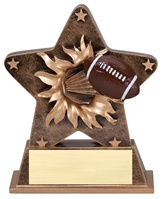 "5-1/2"" Starburst Series Football Trophy"