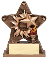 "5-1/2"" Starburst Series Victory Trophy"