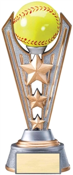 "9-1/4"" Large Victory Softball Trophy"