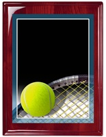 "7"" x 9"" Premium Piano Finish Tennis Plaque RW-MP315B"