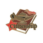 "1-1/4"" Star Student Citizenship Pin SA20"