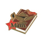 "1-1/4"" Star Student Math Pin SA23"