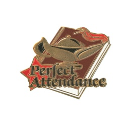 "1-1/4"" Star Student Perfect Attendance Pin SA24"