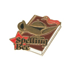 "1-1/4"" Star Student Spelling Bee Pin SA26"
