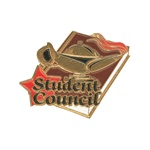 "1-1/4"" Star Student Council Pin SA27"