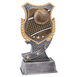 Shield Volleyball Trophy
