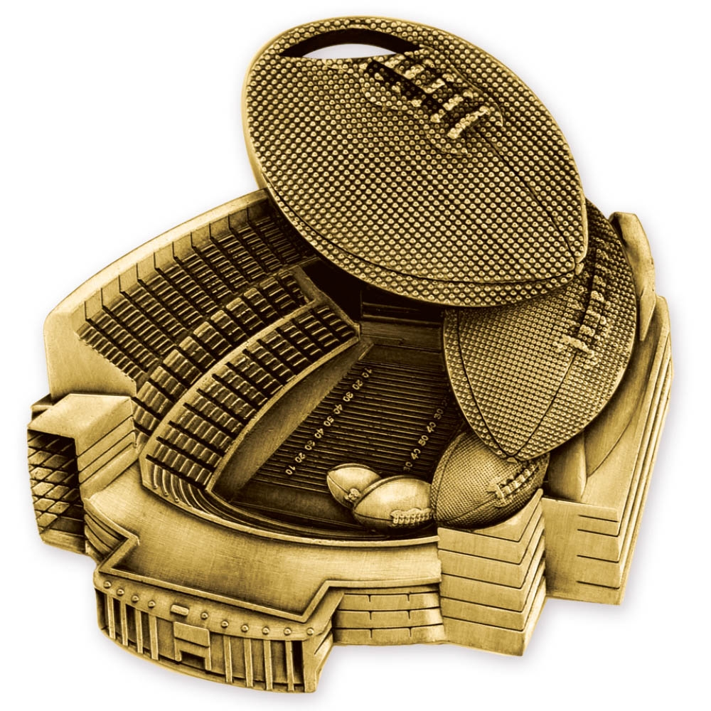 "2-1/2"" Football Stadium Medal SAM713"