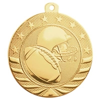 "2"" Starbrite Series Football Medal SB155"