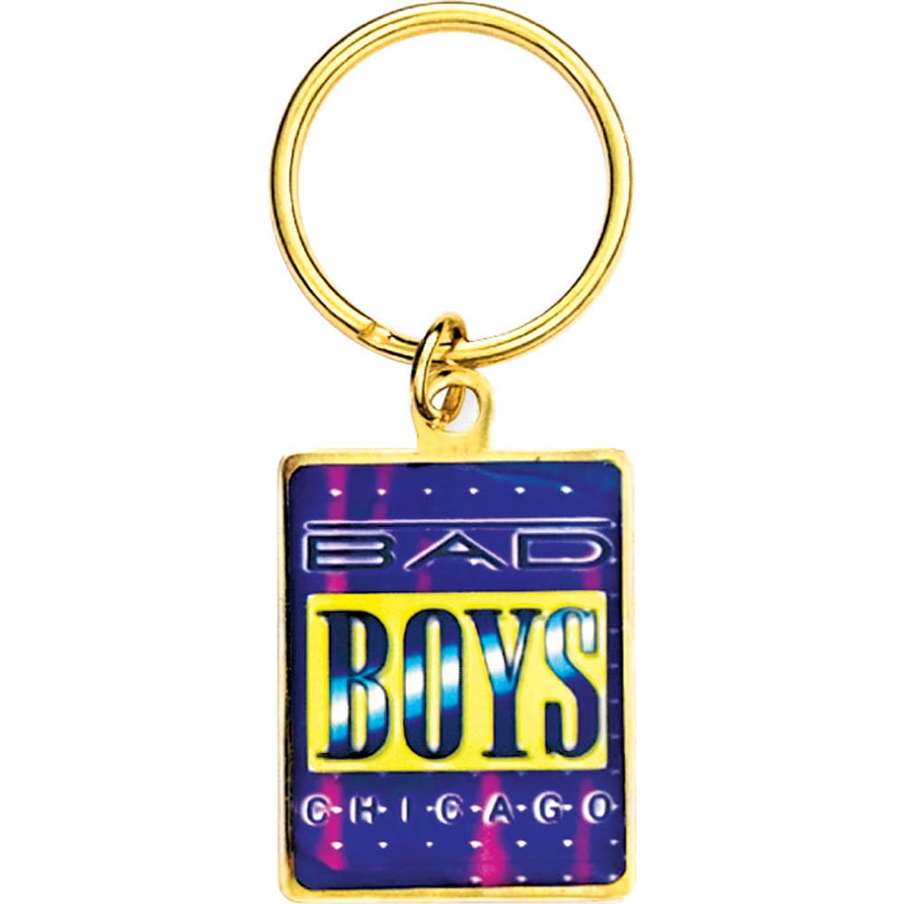 "1 1/8"" x 1 1/2""  Full Color Custom Bright Gold Keytag (SLKT14F6)"