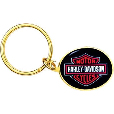 "1"" x 1 1/4""  Full Color Custom Bright Gold Key tag (SLKT16F6)"
