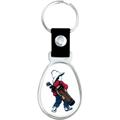 "1 3/8""  Full Color Custom Bright Silver Key tag (SLKT20F6)"