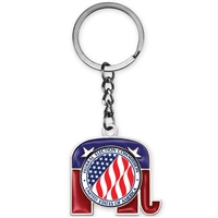Custom Logo Republican Elephant Key tag