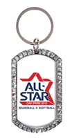 "2""  Full Color Custom Clear Glitter Key tag (SLKT40F6)"