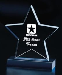 SMT-A Star Shaped Acrylic Award 5""