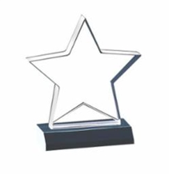 "SMT-C Star Shaped Acrylic Award 7"" x 7-3/4"""