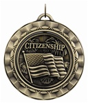 "2-5/16"" SPINNING Citizenship Medal SP394"