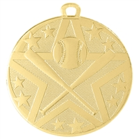 "2"" Superstar Series Baseball Medal SS401"