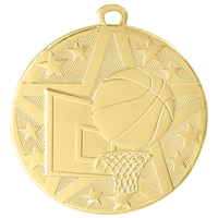 "2"" Superstar Series Basketball Medal SS402"