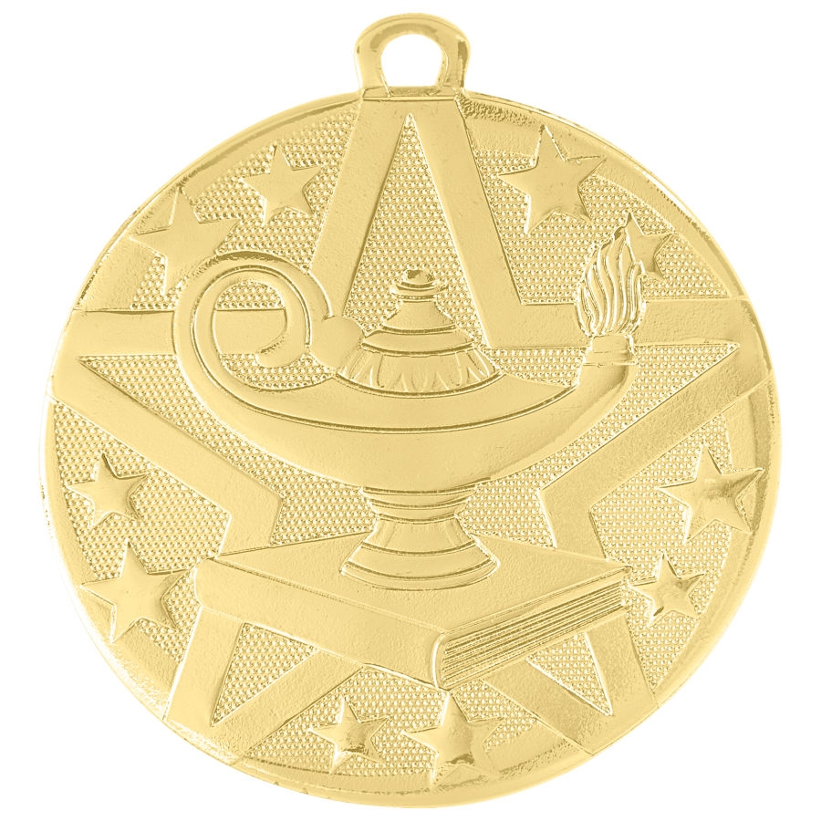 "2"" Superstar Series Lamp of Knowledge Medal SS505"