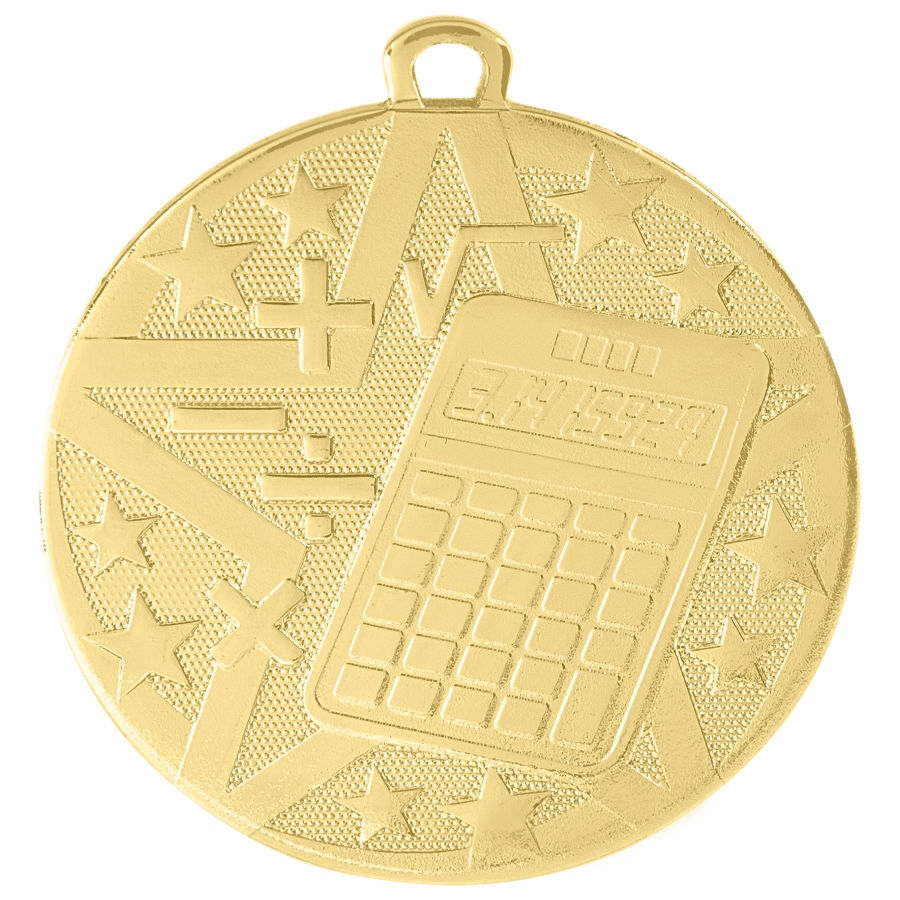 "2"" Superstar Series Math Medal SS506"