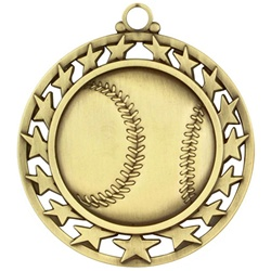 "2-1/2"" Super Star Baseball Medal SSM-1"
